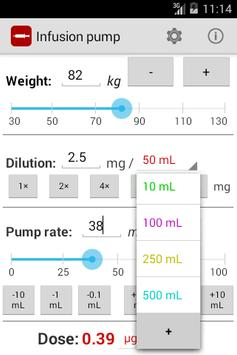 Infusion pump screenshot 2