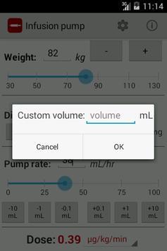 Infusion pump screenshot 3