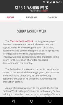 Serbia Fashion Week apk screenshot