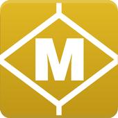 Route Plan Barcelona Metro Map icon