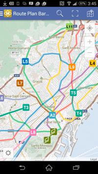 Route Plan Barcelona Metro Map poster