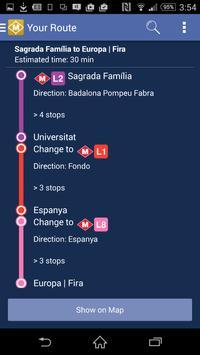 Route Plan Barcelona Metro Map screenshot 3