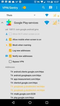VPN/Sentry screenshot 1