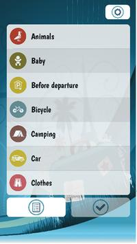 Vacation Travel Checklist poster