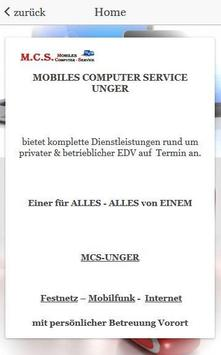 MCS-UNGER Mobiles PC Service screenshot 1