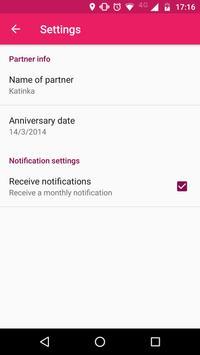 Relationship Anniversary screenshot 1