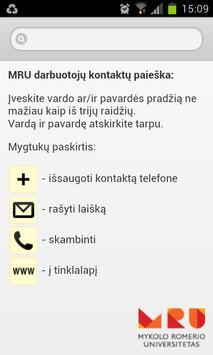 MRU kontaktai poster
