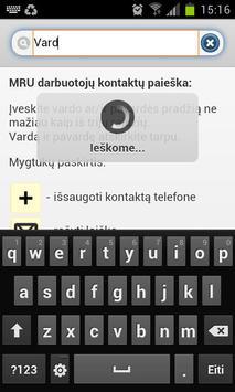 MRU kontaktai apk screenshot