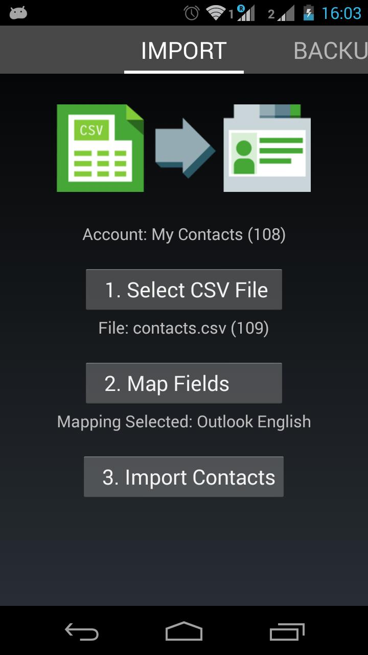Contacts Import for Android - APK Download
