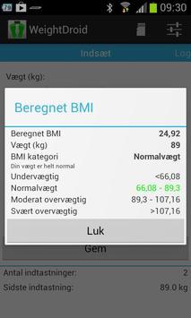 WeightDroid apk screenshot