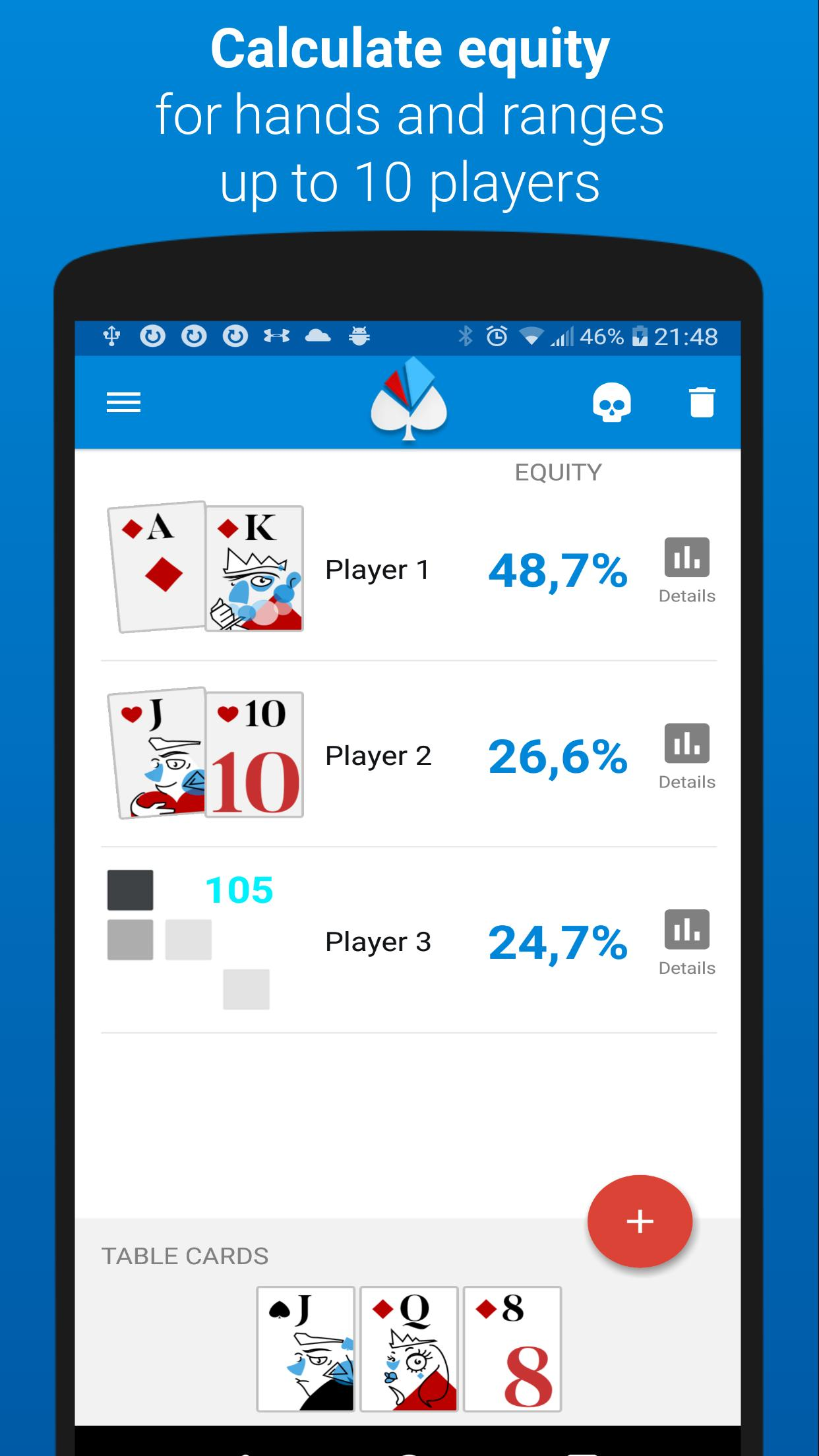 Poker equity calculator Holdem Lab 2 for Android - APK Download