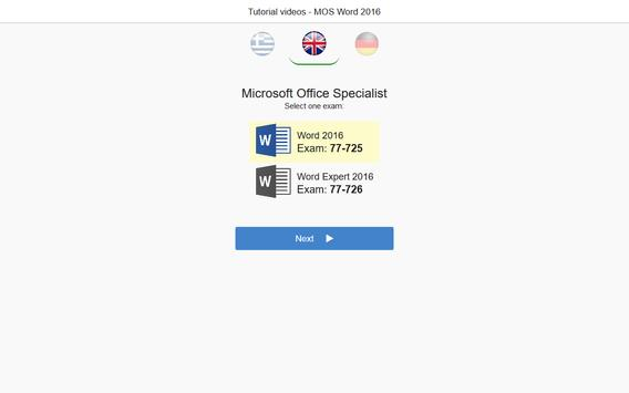 MOS Word 2016 Core & Expert Tutorial Videos poster