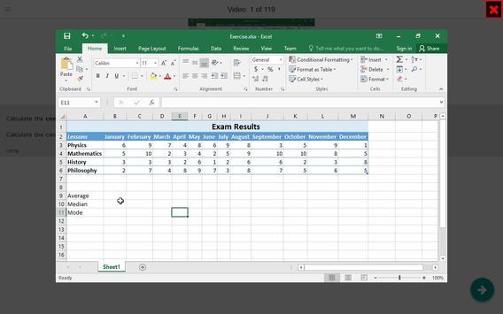 Excel Functions Tutorial (how-to) Videos apk screenshot