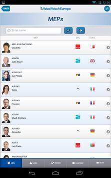 VoteWatch Europe screenshot 1