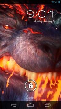 Evil Fire Wolf Live Wallpaper poster
