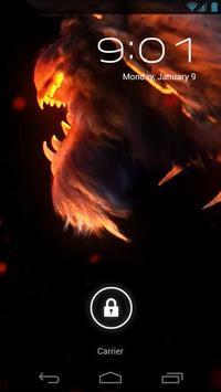 Evil Fire Wolf Live Wallpaper apk screenshot