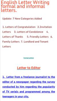 english letter writing poster english letter writing screenshot 1