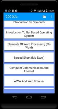 CCC QUIZ on COMPUTER CONCEPTS screenshot 1
