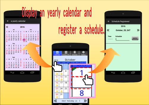 My Holiday (Calendar) apk screenshot