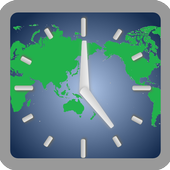 World clock (+Time difference calculation) icon