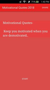 Motivational Quotes 2018 poster