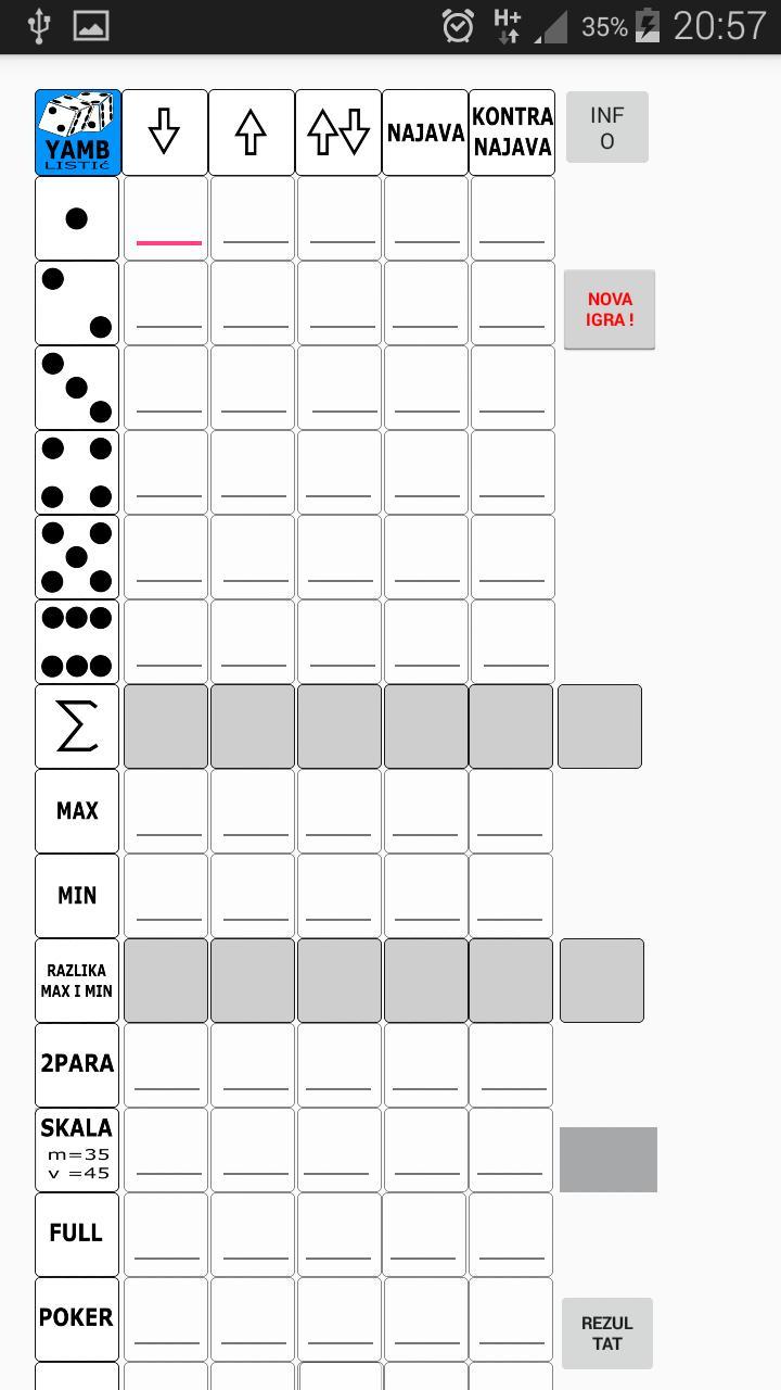 Za jamb stampanje tabela Kreiranje i