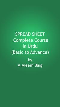 Spread Sheet Video Tutorial poster