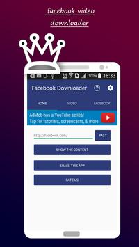 FBook Video Downloader Pro poster