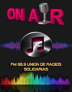 FM 88.9 UNIÓN DE RADIOS SOLIDARIAS poster