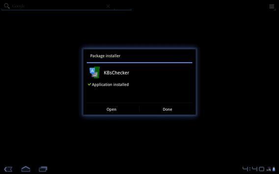 KBsChecker apk screenshot