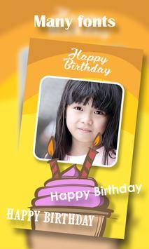 Birthday Photo Frame screenshot 2
