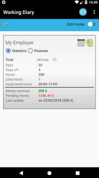 Working Diary screenshot 1