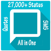 27,000 English sms app | Status and quotes icon
