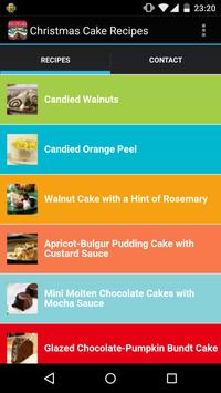 Christmas Cake Recipes poster