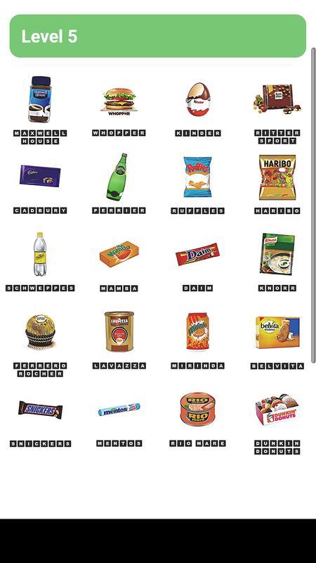 Food Logos Quiz Answers