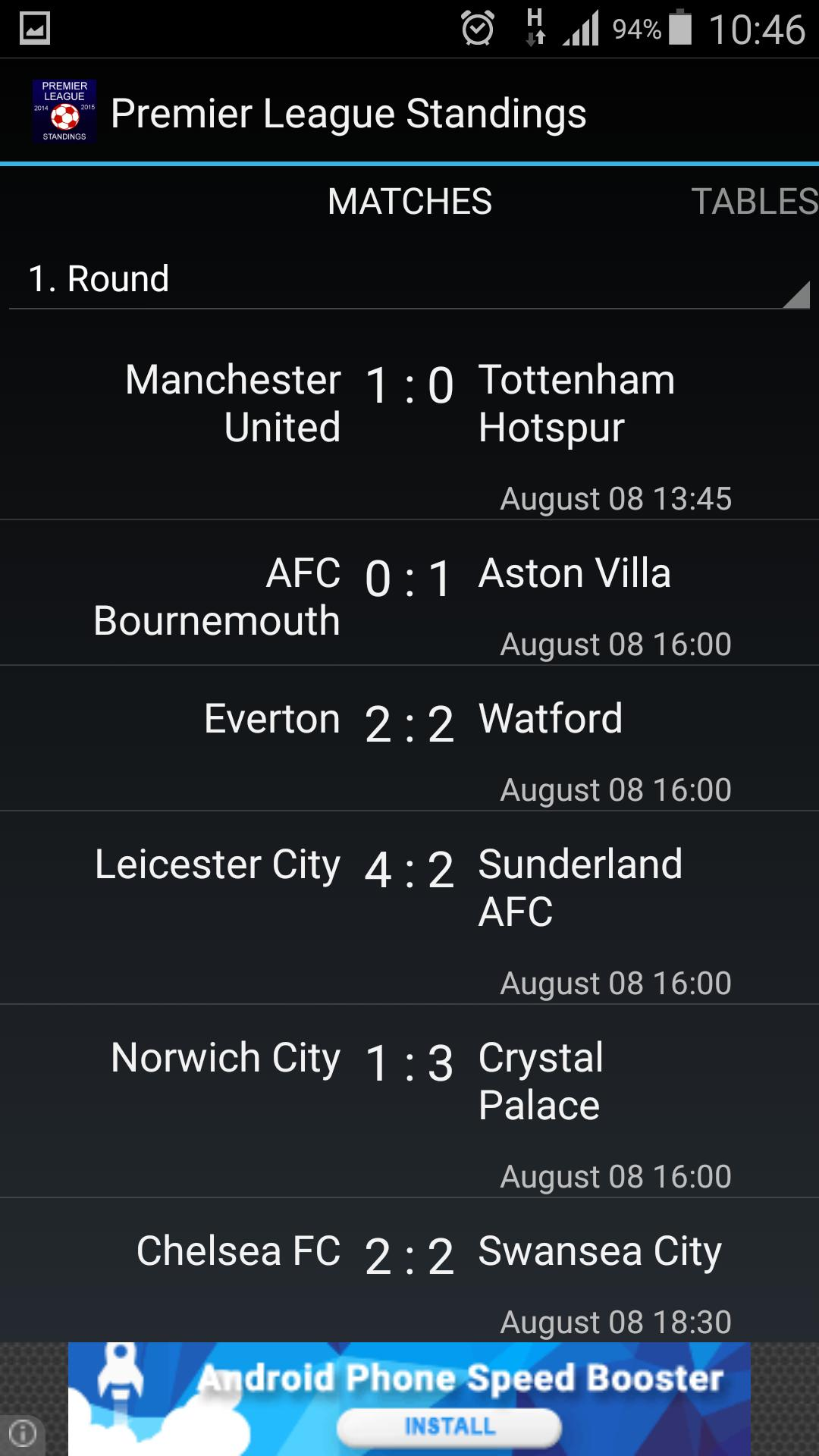 Premier League Standings For Android Apk Download