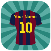 كتابة إسمك على قميص كرة القدم icon