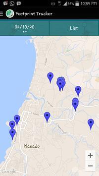 Footprint Tracker apk screenshot