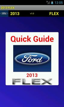 Quick Guide 2013 Ford Flex poster