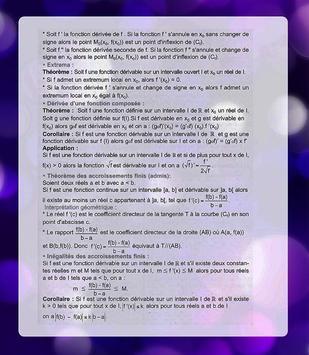 Math summary(Bac) poster