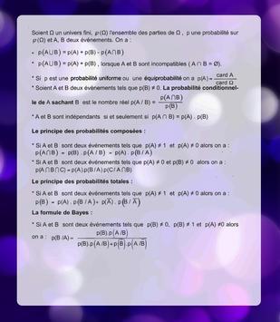 Math summary(Bac) apk screenshot