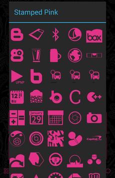 Stamped Pink Icons apk screenshot