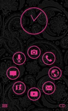 Stamped Pink SL Theme apk screenshot