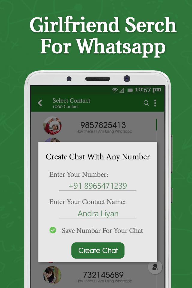Whatsapp number of girl using Whatsapp Gf