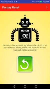 One Tap Factory Reset - Wipe Cache Partition ROOT poster