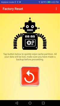 One Tap Factory Reset - Wipe Cache Partition ROOT screenshot 3