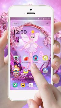 Pink Fairy Theme apk screenshot