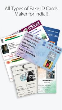 Fake ID Card Maker for India poster