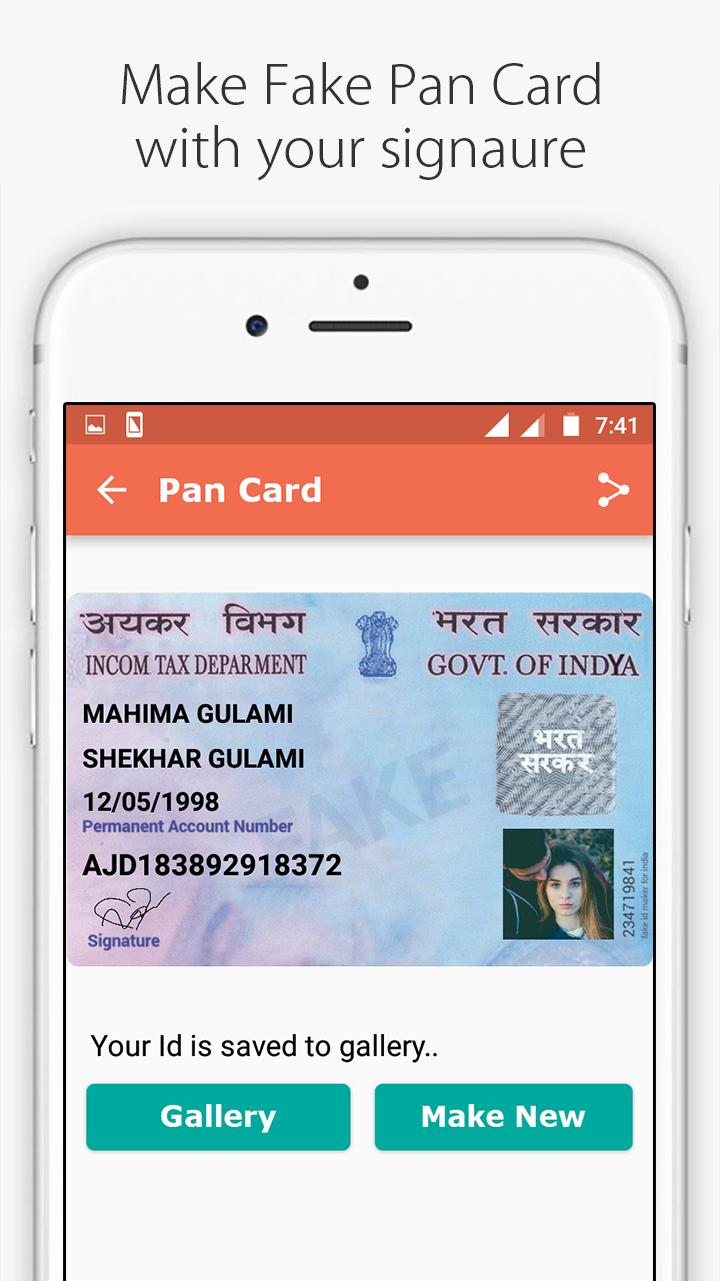 Fake ID Card Maker for India for Android - APK Download