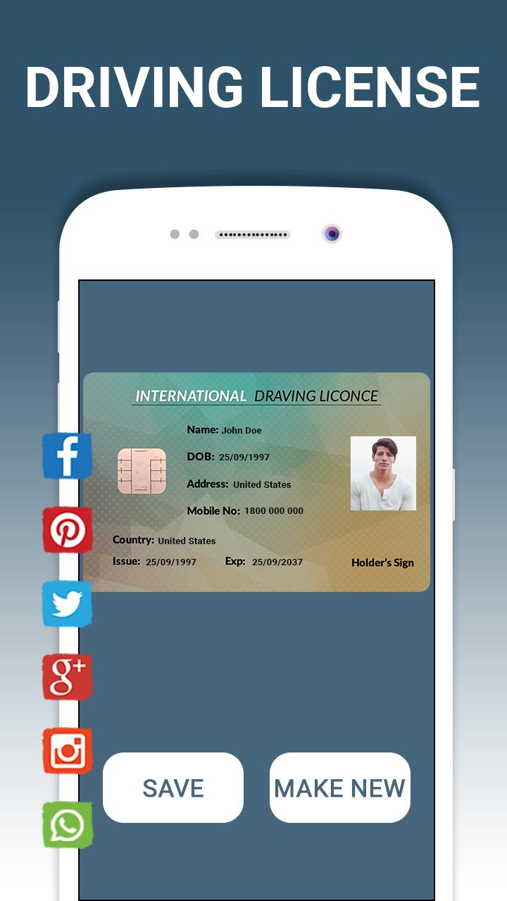Fake ID card Maker& Generator for Android - APK Download